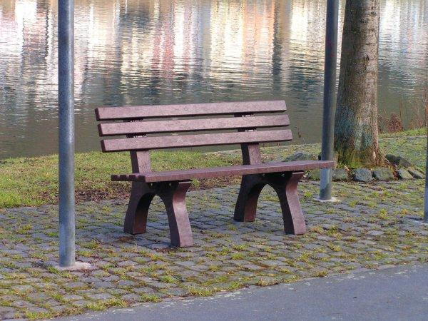 Kunststoff-Bank - Parkbank Trafalgar Square ehemals Jena2, Mainz2 mit Lehne