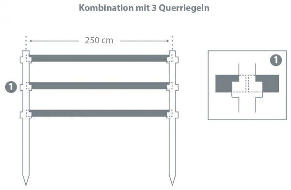 Kunststoff-Koppelzaun (aus Einzelteilen)