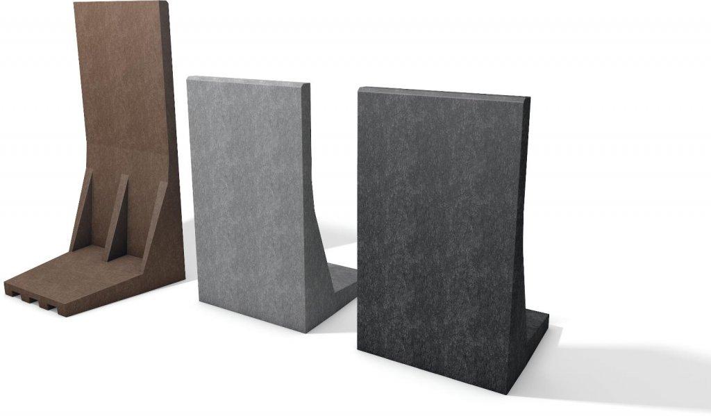 l stein kunststoff l steine f r grundst cksgrenzen b schungen recpro recyclingprodukte