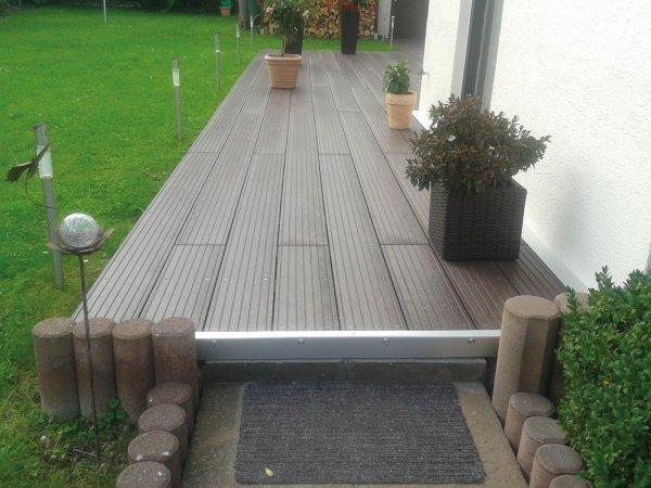 Kunststoff-Kunststoff Terrassenbretter