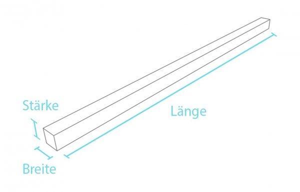 Kunststoff-Vierkantprofil ohne Spitze